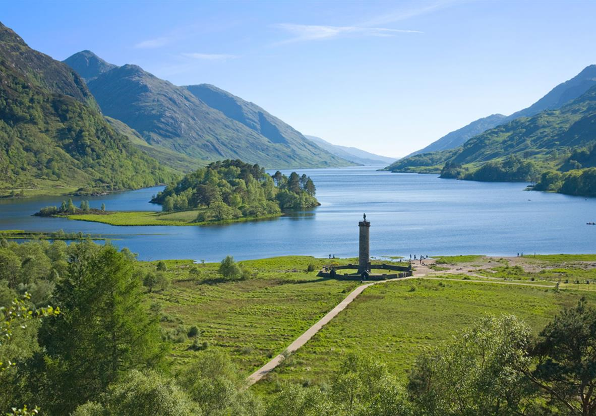 The Jacobite memorial in Glenfinnan