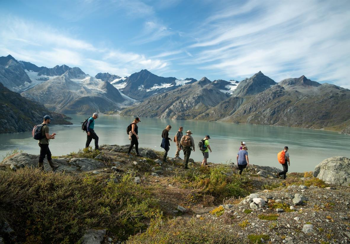 Guided hike in Glacier Bay National Park