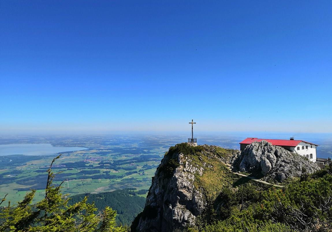 Weite Fernsichten über den Chiemgau