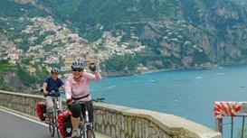 Radfahrer in Italien