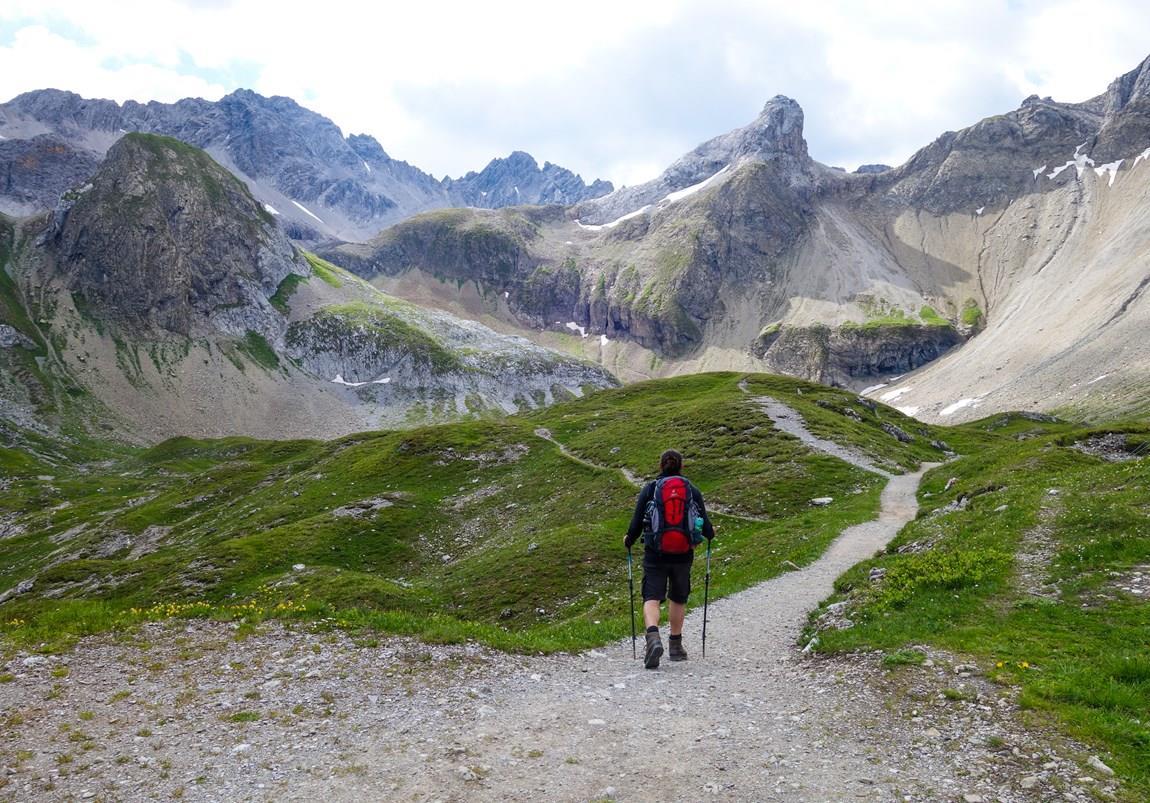 E5-Wanderer von Oberstdorf nach Meran