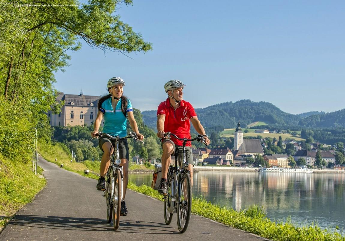 Donauradweg Bei Grein Duo © WGD Donau Oberösterreich Tourismus GmbH Eber